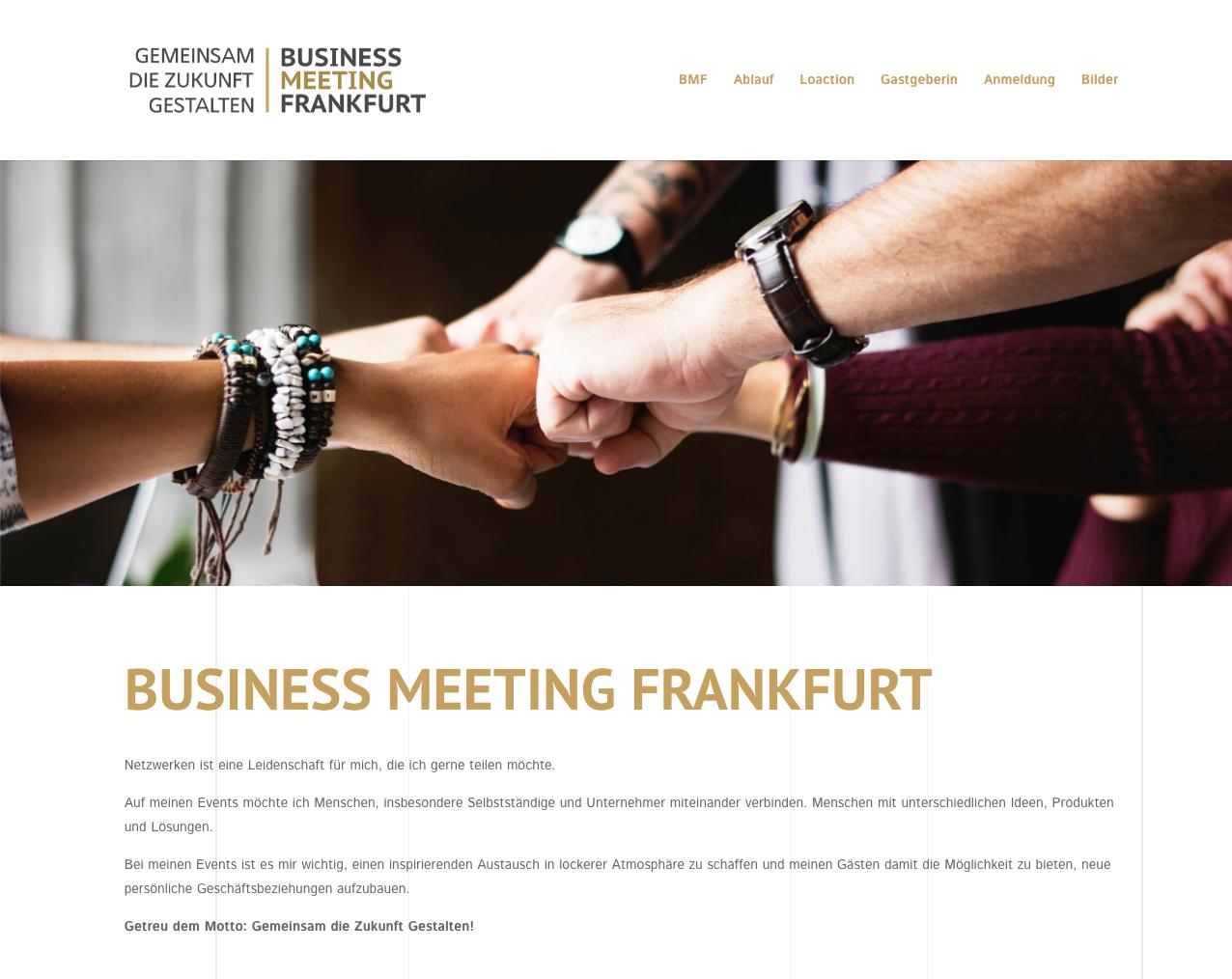 Screenshot Business Meeting Frankfurt
